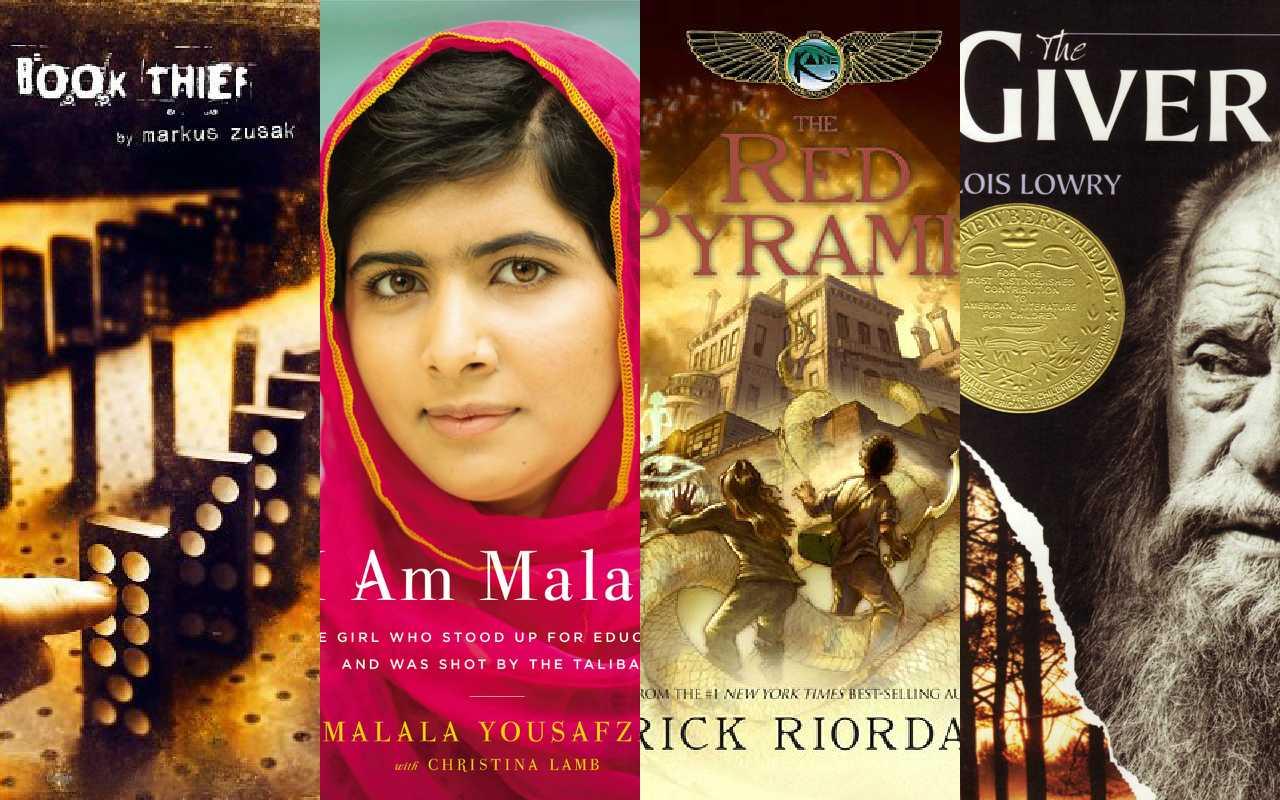"""(From left to right) Rick Riordan's """"The Red Pyramid,"""" """"I Am Malala,"""" """""""