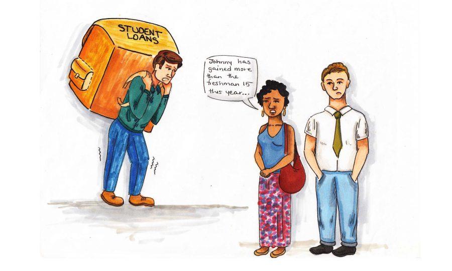 Political Cartoon: Student debt