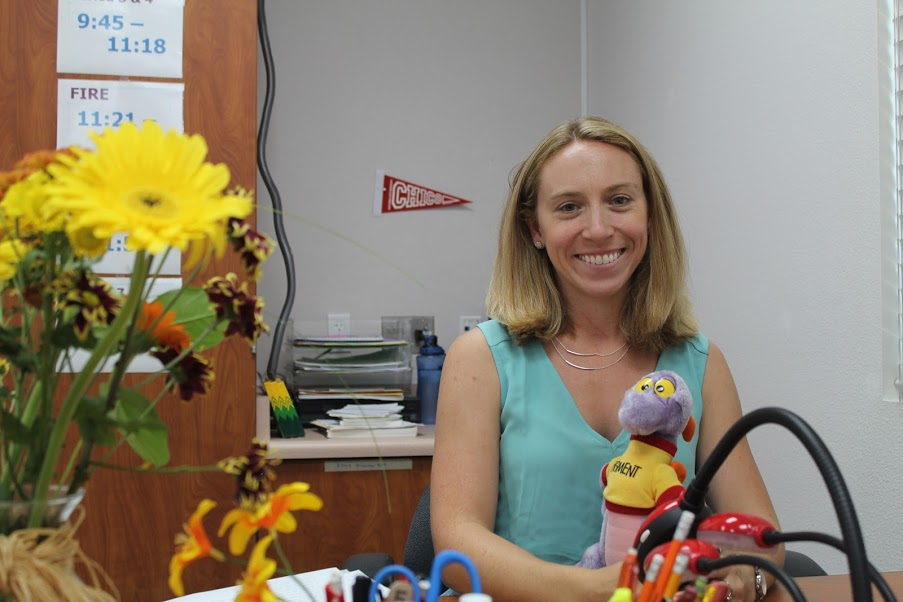 Sarah Page is excited to take on teaching at Foothill.  Credit: ????/The Foothill Dragon Press