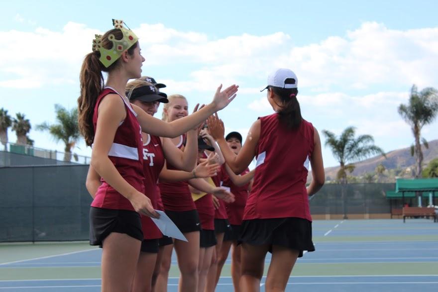 Girls' tennis wins final match, heads to playoffs