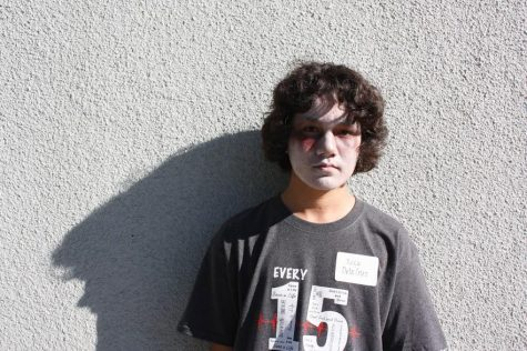 "Junior Nick Dela Cruz played the role of one of the ""living dead"" in Every 15 Minutes 2015. Credit: Jessie Snyder/The Foothill Dragon Press"