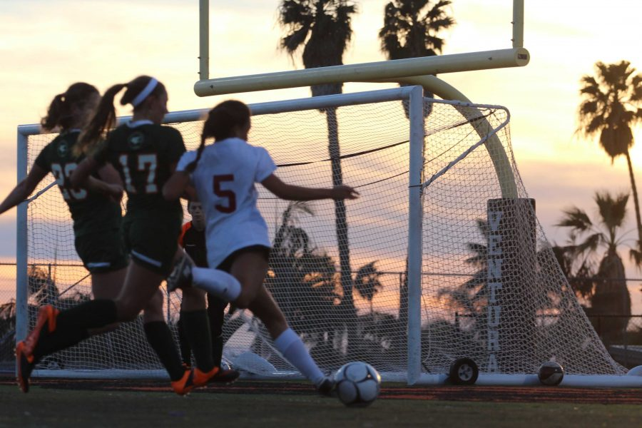 Girls' soccer dominates Thacher 3-1 at home field