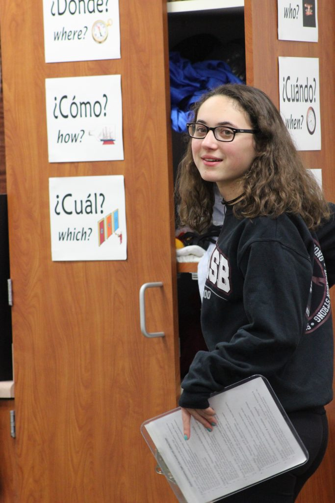 Senior Lauren Dalmatoff was one of the student tour guides. Credit: Rachel Horiuchi/The Foothill Dragon Press
