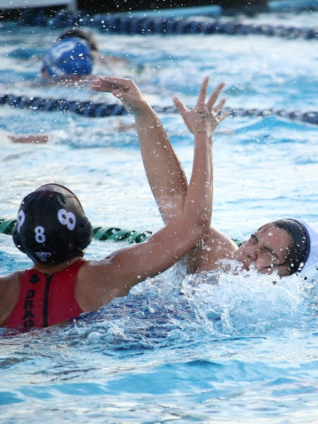 Sophomore Lily Armstrong blocks a Fillmore player. Credit: Grace Carey/The Foothill Dragon Press
