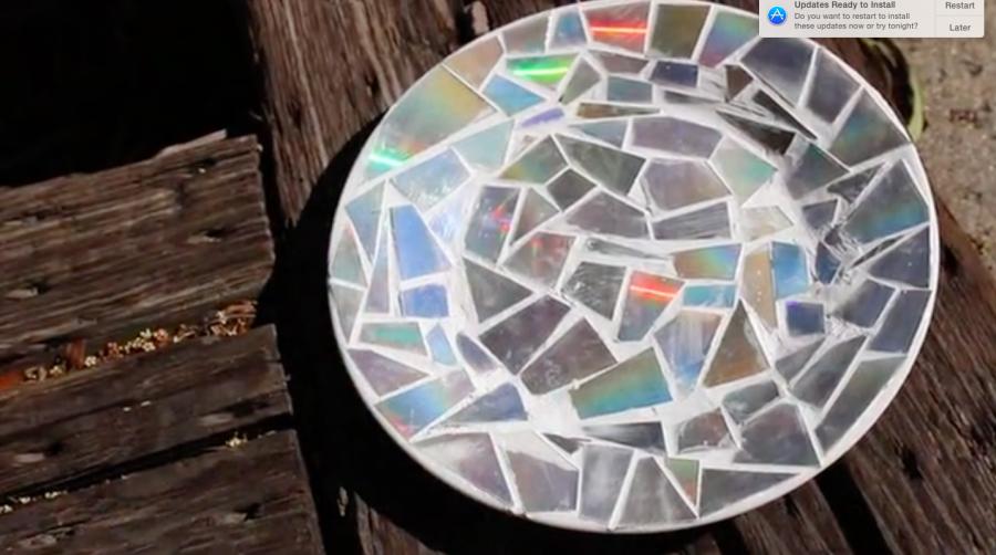 DIY Mirrored Plate (9 photos)