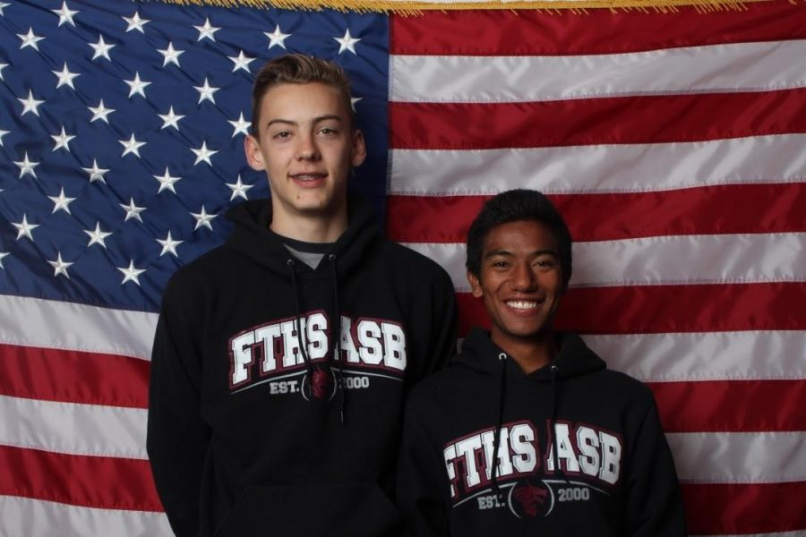 Kahar McCullum and Daniel Holst compete for ASB Vice President