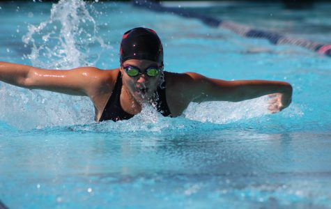 Swim team dominates Grace Brethren in final home meet of season