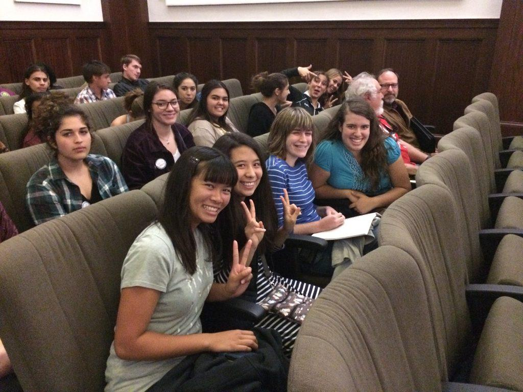 AP Government students at the School Board meeting. Credit: Cherie Eulau (used with permission).