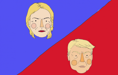 Illustration: Angry Trump and Hillary