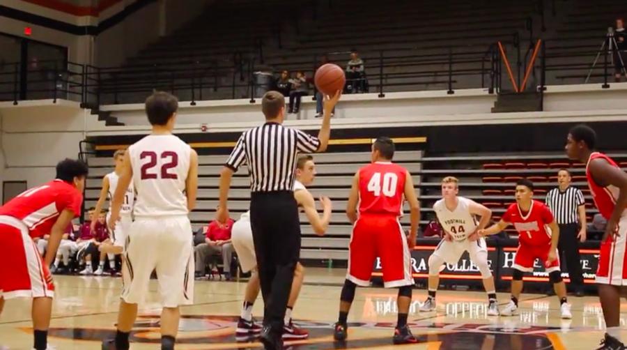 Boys basketball first homegame