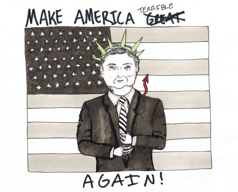 It isnt hard to guess cartoonist Jessie Snyders feelings about President Donald Trump.