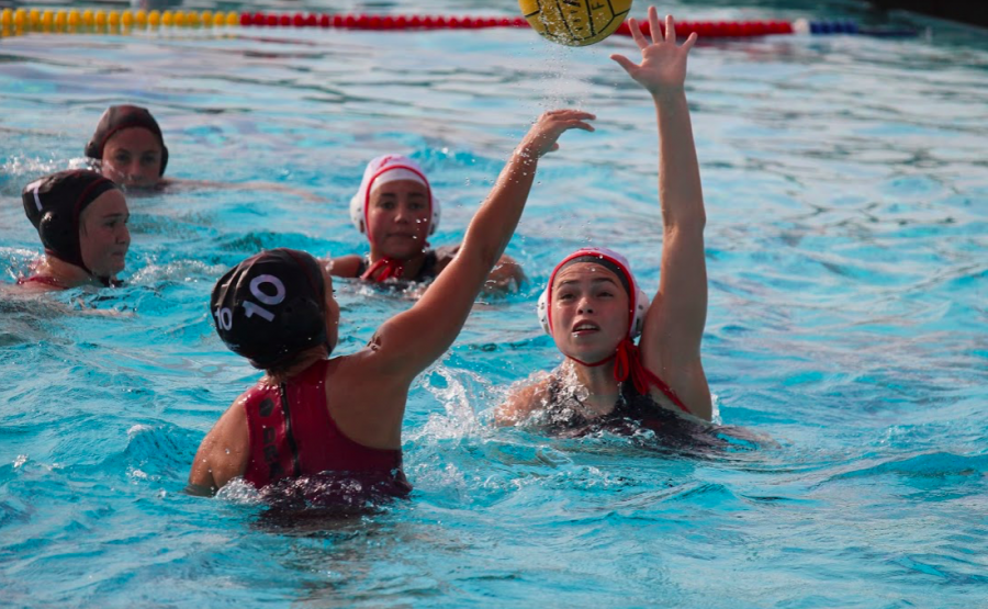 Strong first half propels girls' water polo to 15-3 win over Carpinteria