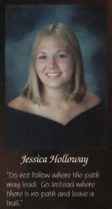 Jessica Lunetta's senior portrait in the yearbook.