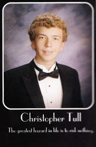 Christopher Tull's senior portrait in the yearbook.