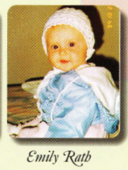 Emily Rath's baby photo in the yearbook.