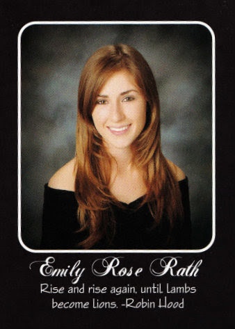 Emily Rath's senior portrait in the yearbook.