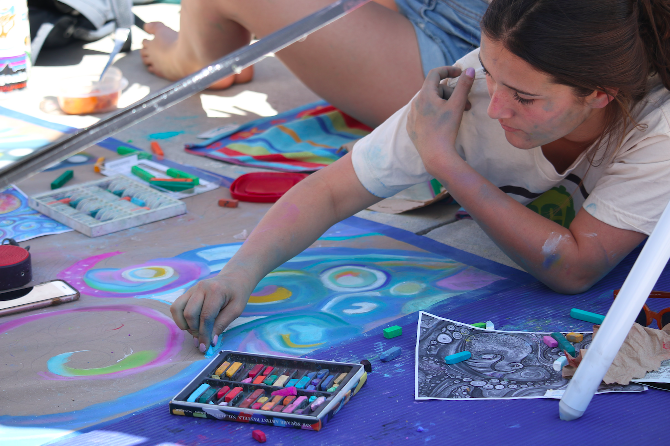 Annual Chalk Festival exhibits art talent at Foothill