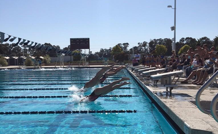 Swim team sweeps Santa Paula at third home meet