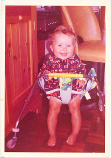 Claire Adams about 9 months old in the house where she grew up in St. Albans, Hertfordshire, United Kingdom. Credit: Used with permission from Claire Adams