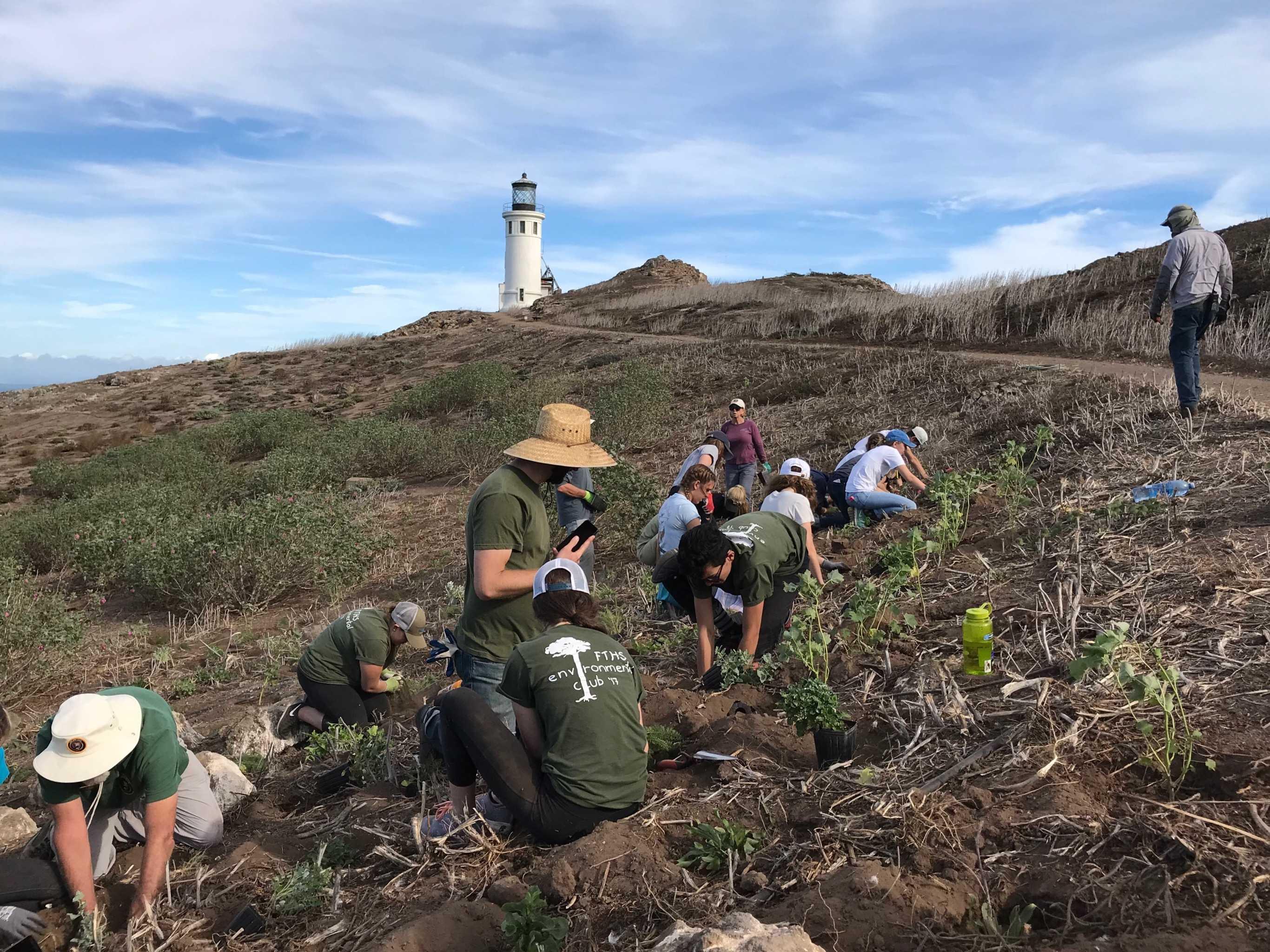 "Environmental club members ""plant the seed"" of their environmental legacy at Anacapa Island"