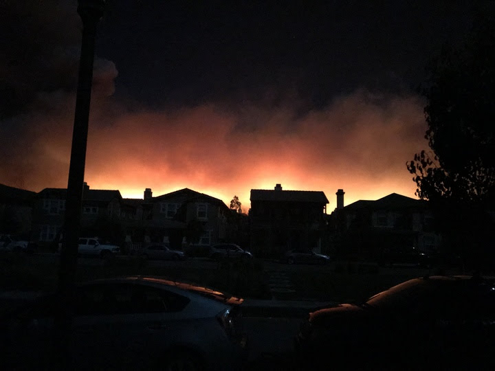 The view from Saticoy early Tuesday morning. Credit: Nick Brandly / The Foothill Dragon Press