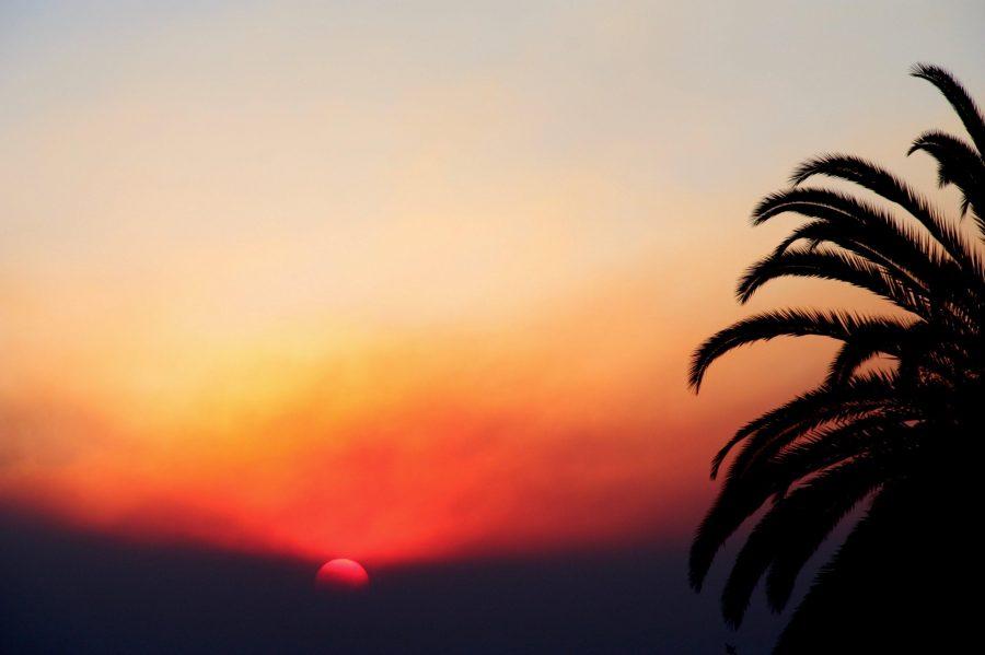 The sunrise through the smoke on Dec. 5, 2017. Credit: Abigail Massar / The Foothill Dragon Press