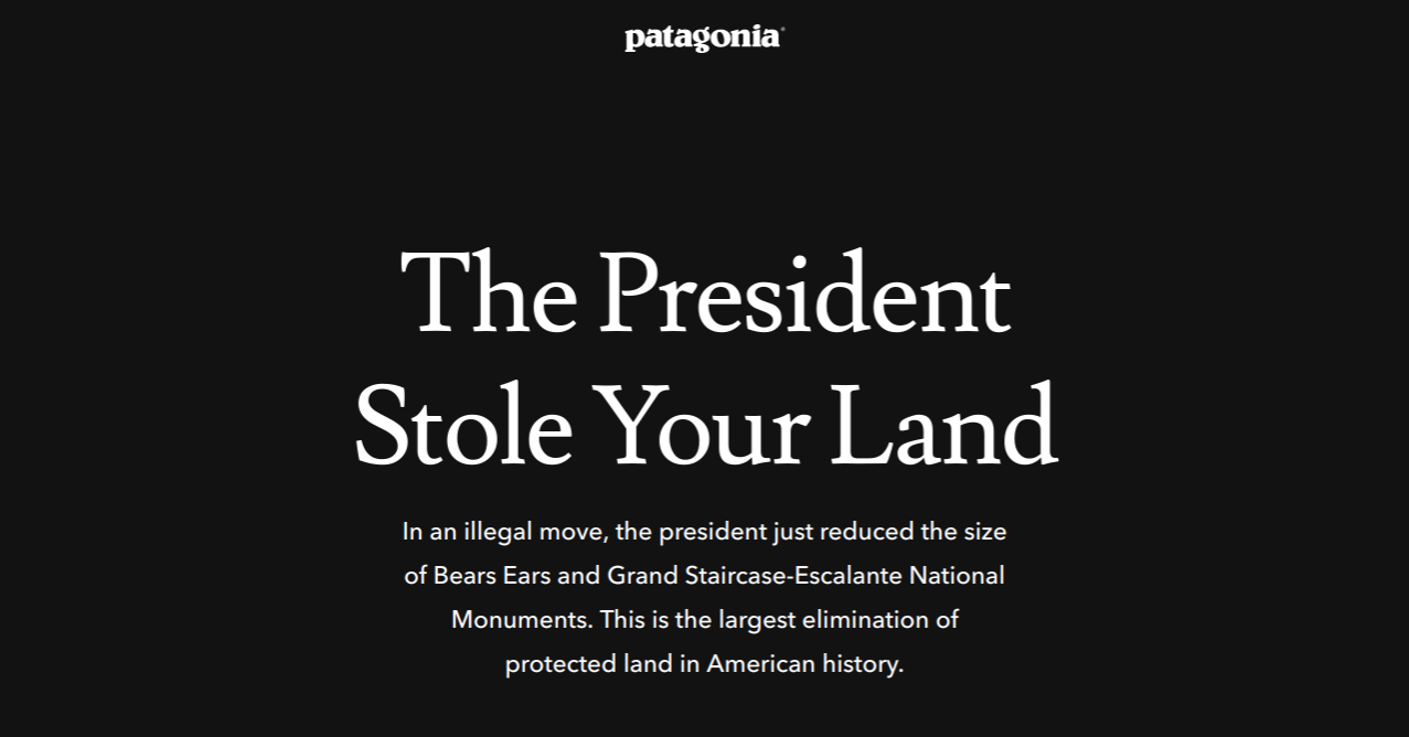 Patagonia sues to block Trump's decision to cut national parks