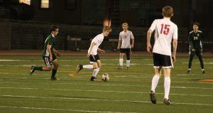 Aidan Wedderien finds a path with soccer