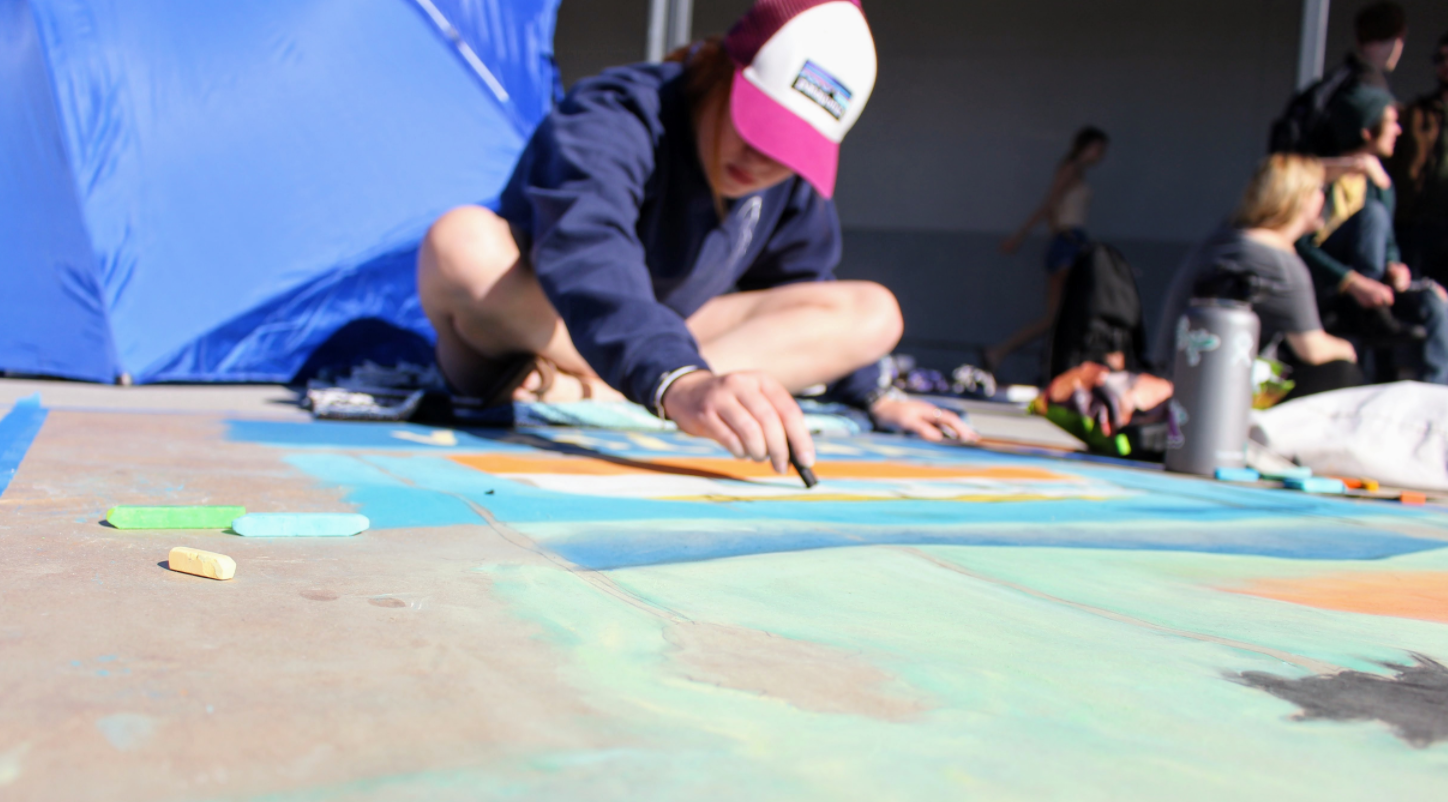 Student creativity displayed at annual Chalk Festival