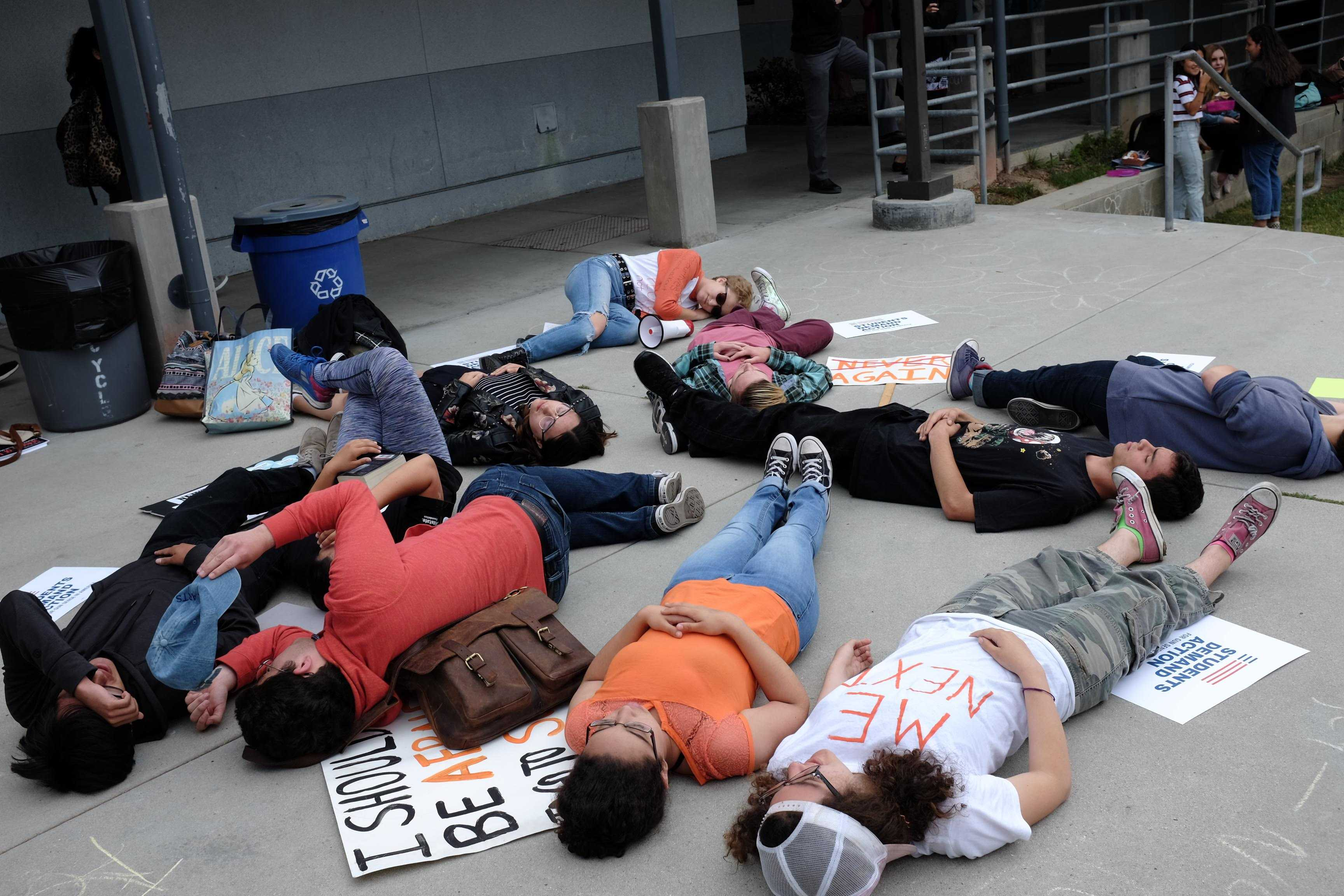 """Die-in"" takes Foothill's activism to a new level"