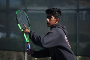 Lopsided match against Bishop Diego leads to breezy win for Boys' Tennis