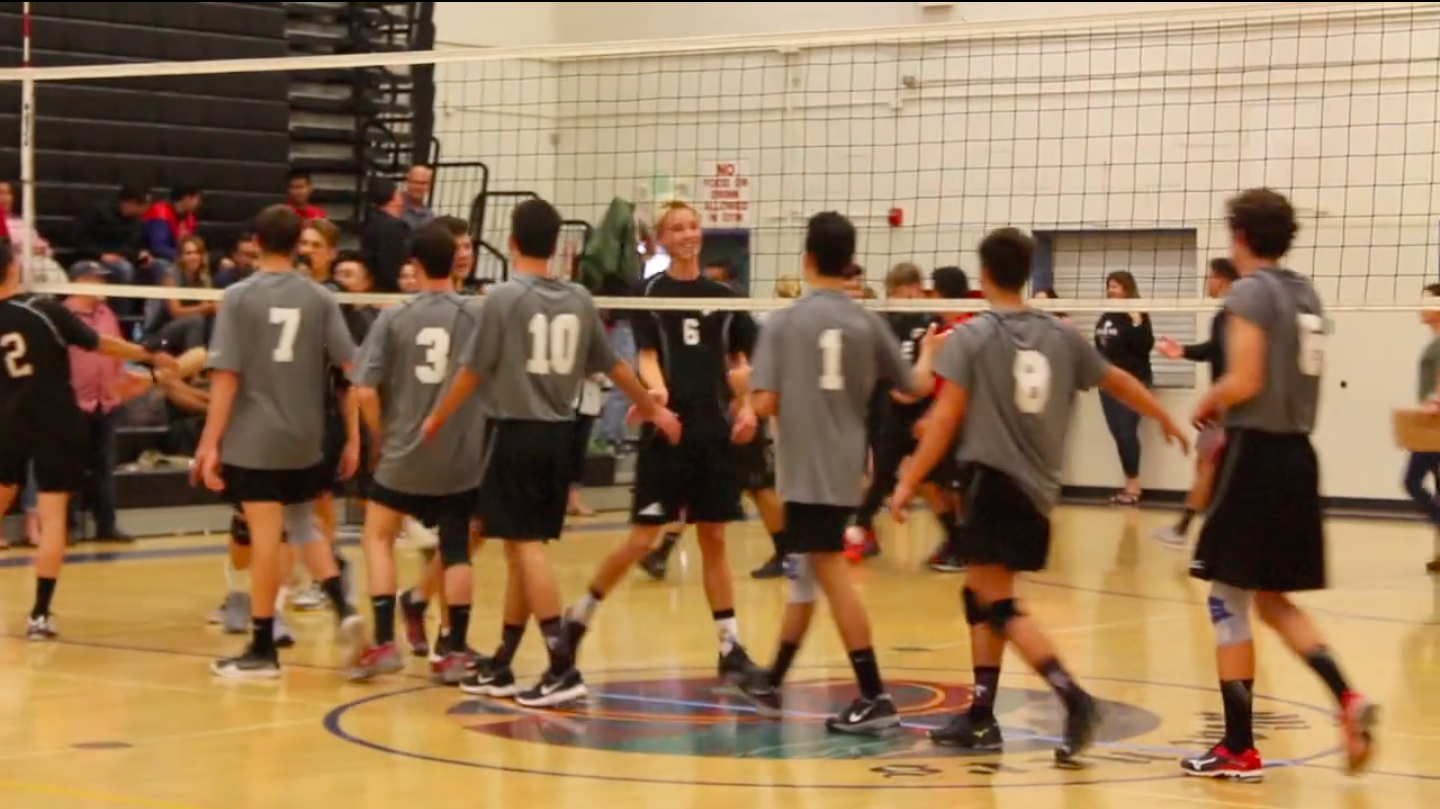 Boys' volleyball last home game