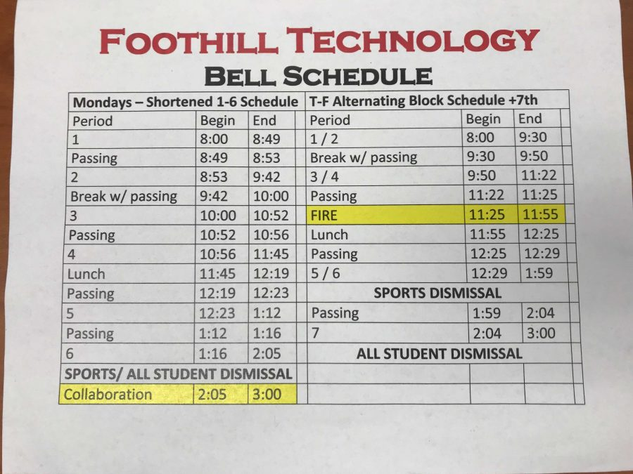Foothill%27s+new+bell+schedule+for+the+2018-19+school+year.+Credit%3A+Yiu+Hung+Li+%2F+The+Foothill+Dragon+Press
