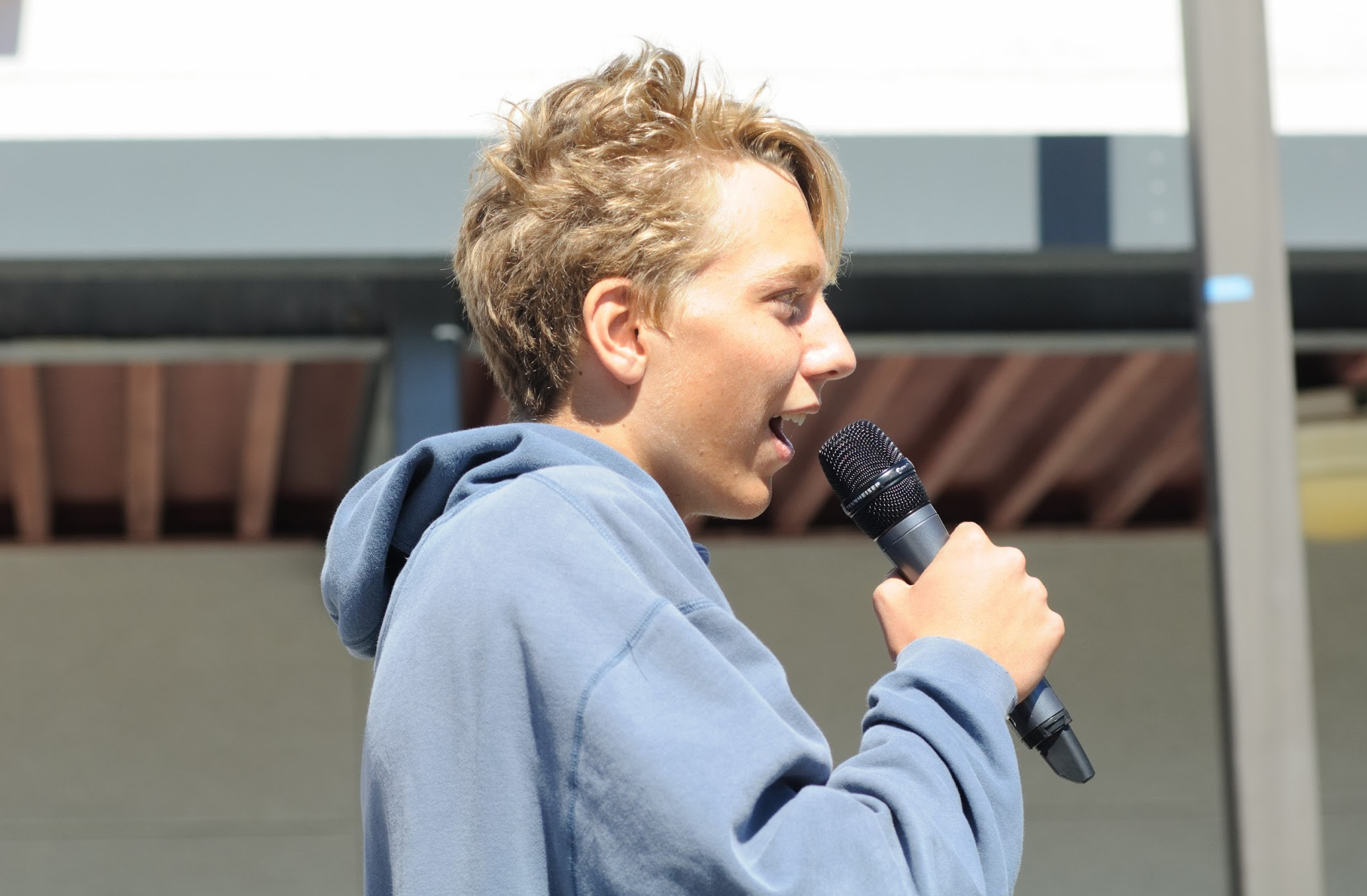 Joe Shoemaker '21 shares his thoughts on the activity. Credit: Muriel Rowley / The Foothill Dragon Press