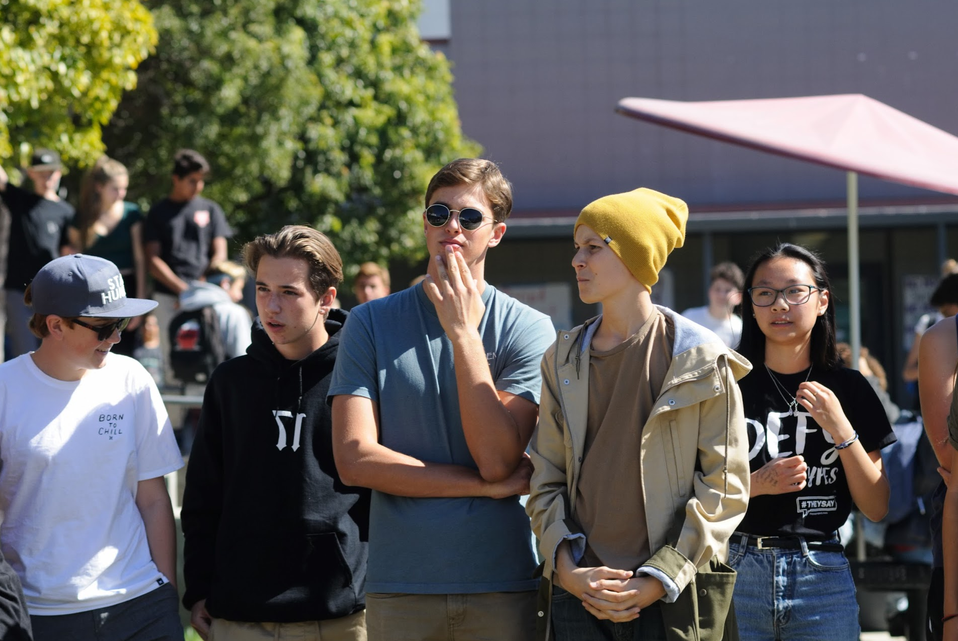 Students listen intently to what WE club has to say. Credit: Muriel Rowley / The Foothill Dragon Press