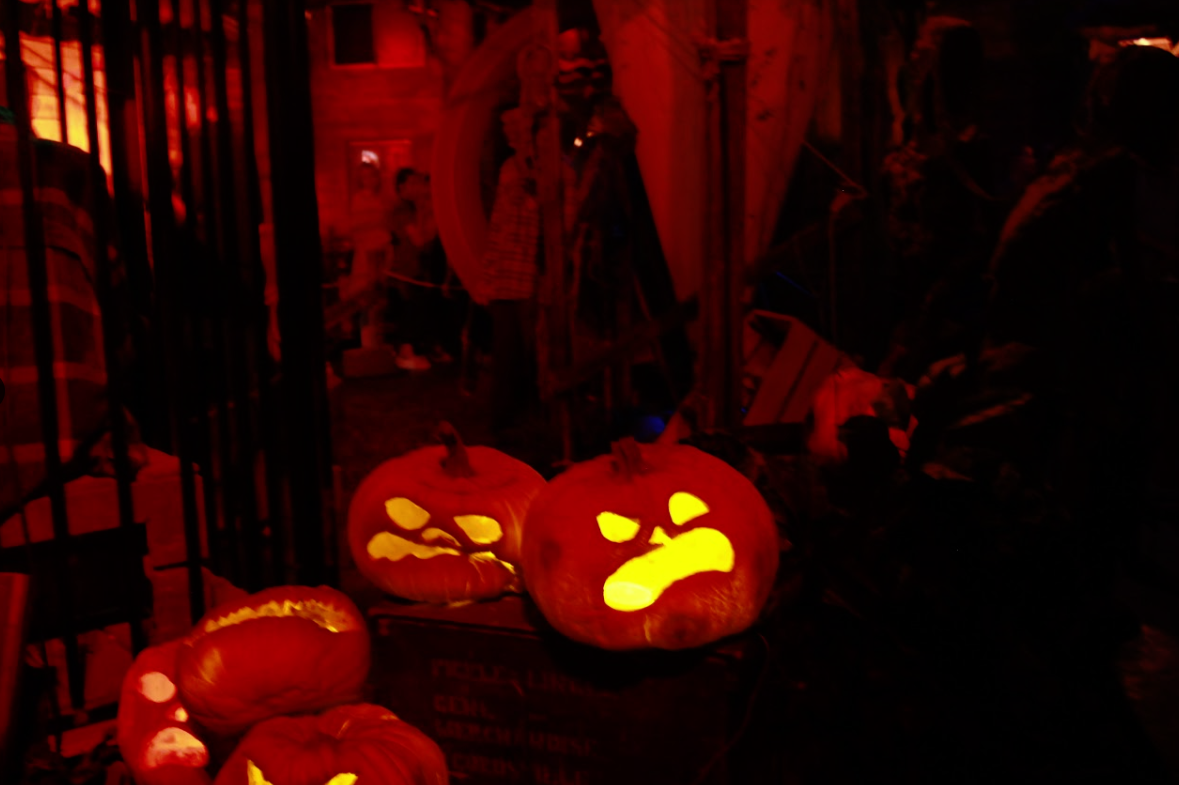 Jack-o'-lanterns line the floor of  the Reign of Terror. Credit: Ethan Crouch / The Foothill Dragon Press