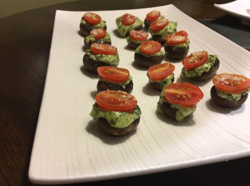 A perfect appetizer for any Thanksgiving celebration are these stuffed asiago-basil mushrooms that are sure to delight any person's taste buds. Credit: Emma Yakel / The Foothill Dragon Press