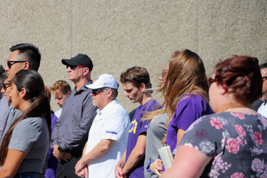 Community members don their Cal Lutheran t-shirts as an indication of their support. Credit: Olivia Sanford / The Foothill Dragon Press