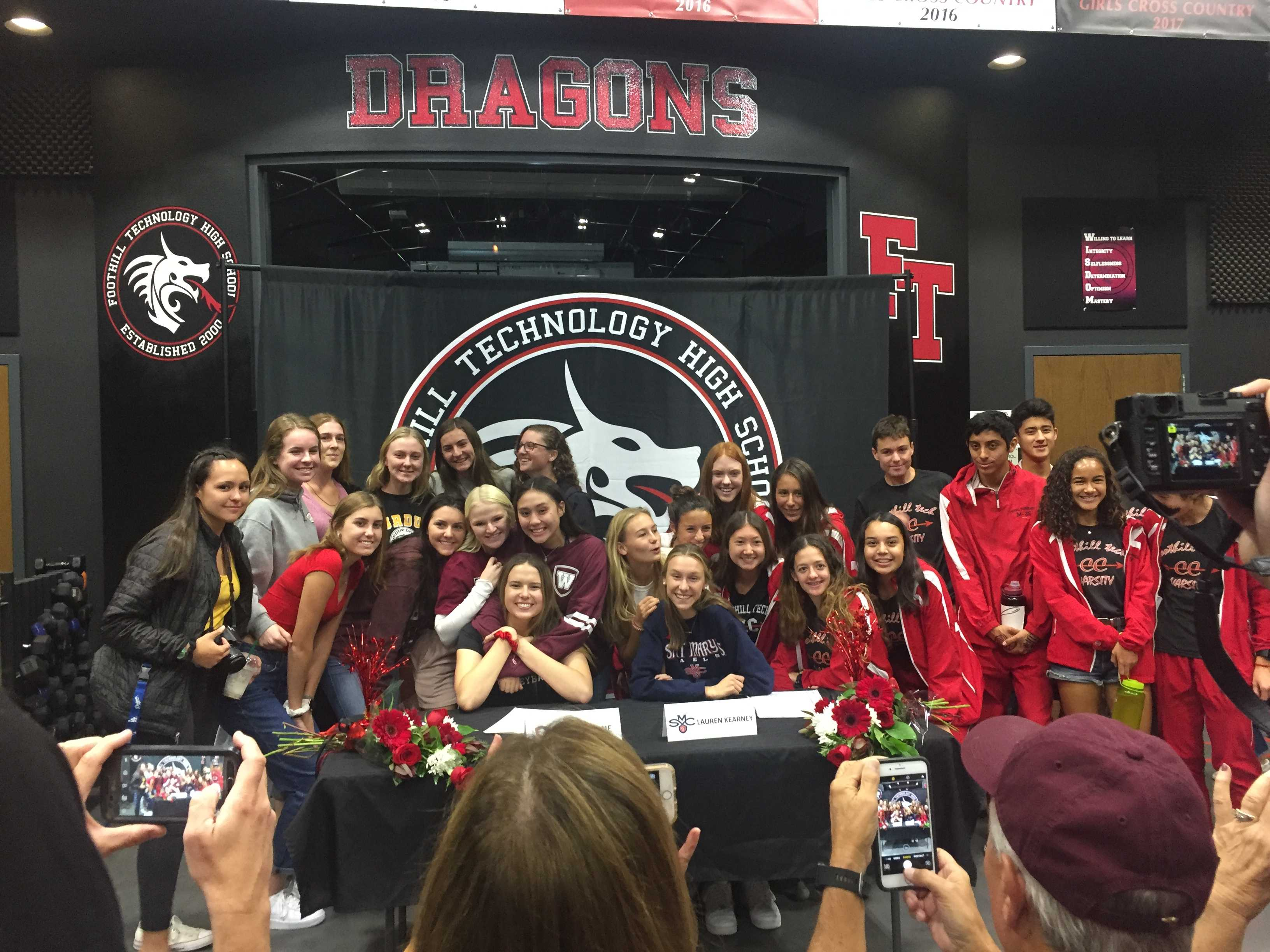 Two Foothill athletes officially commit to college at athletic signing day