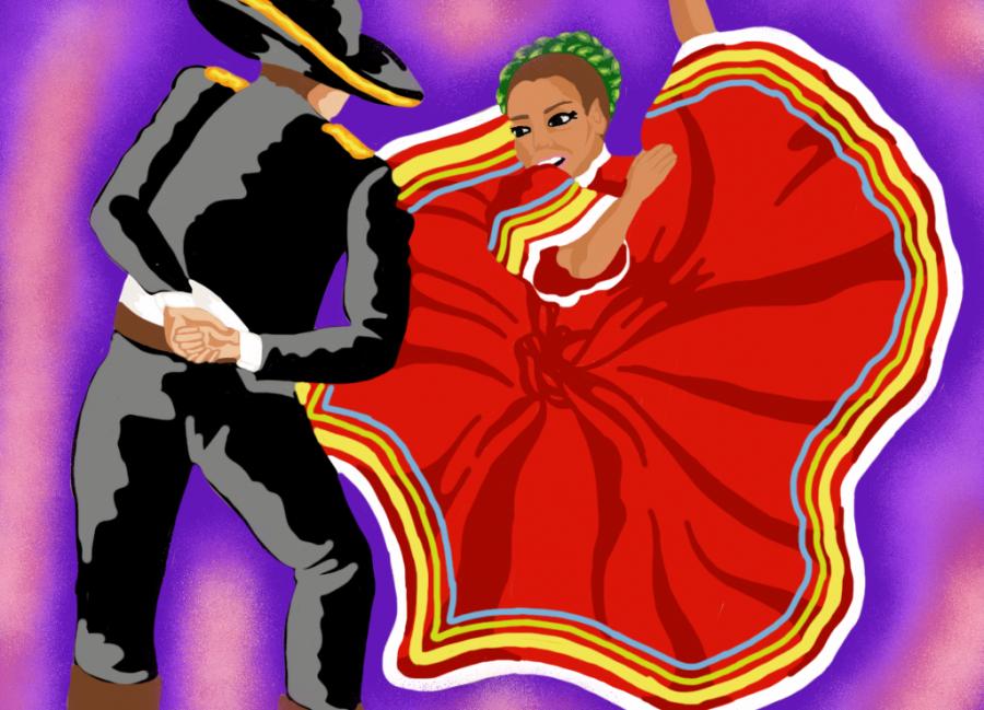 Claro que el baile no es exclusivo para los latinos, el folklórico es divertido y algo que nadie debería sentirse aprensivo antes de unirse