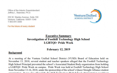 BREAKING NEWS: Executive summary of Foothill Pride Week investigation released