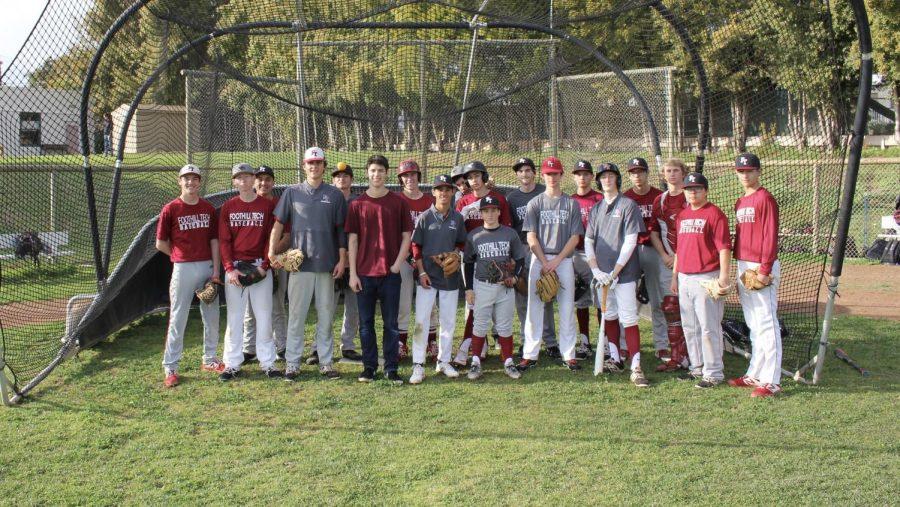 Sam Bova '19 with the baseball team of 2019.