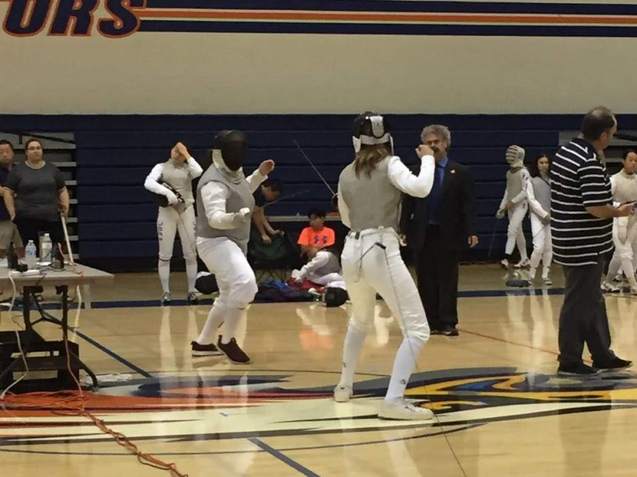 Juliet+Ward+%2721+faces+an+opponent+in+a+fencing+due