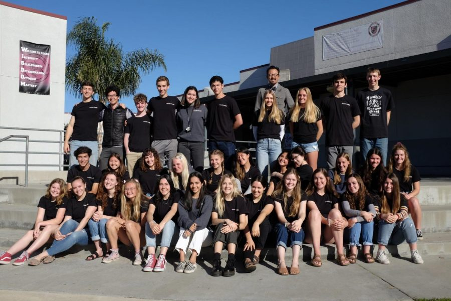 The Foothill Dragon Press staff from the 2018-19 school year.