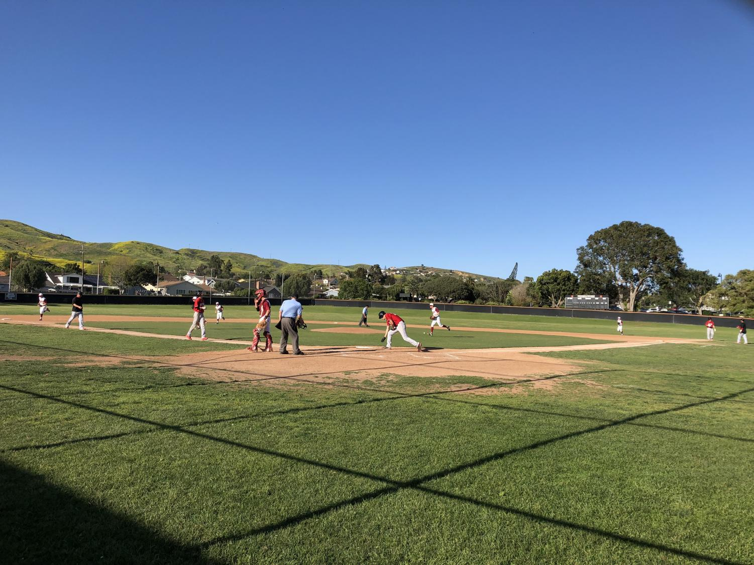 The baseball team lost to Bishop Diego Cardinals in a complete game shutout.