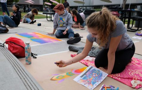 Rain or shine, the chalk festival goes on