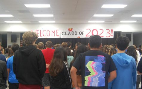 Incoming freshmen being prepared to explore Foothill for the first time