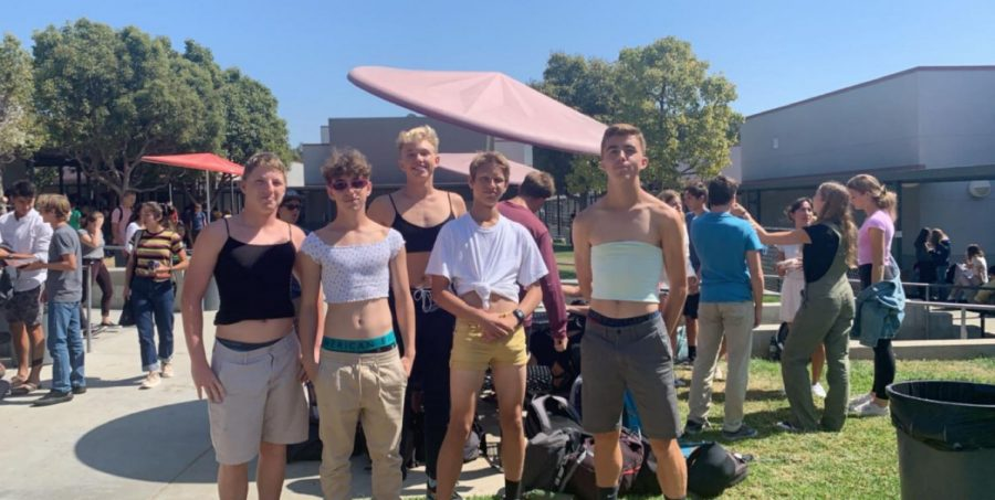 Boys show up to school wearing clothes non-compliant to the dress code