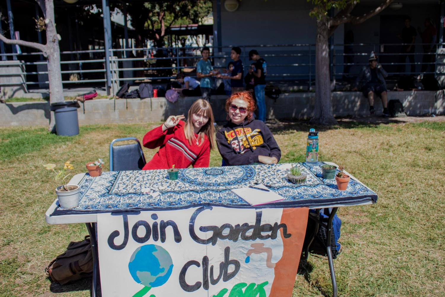 Garden club, one of the various interest groups offered at Foothill.