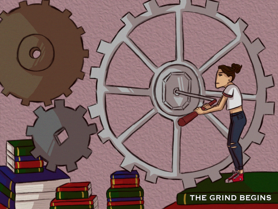 "Cartoon 46: ""The Grind Begins"""